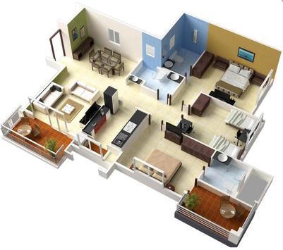 3D Design for 3 Bedroom screenshot 1