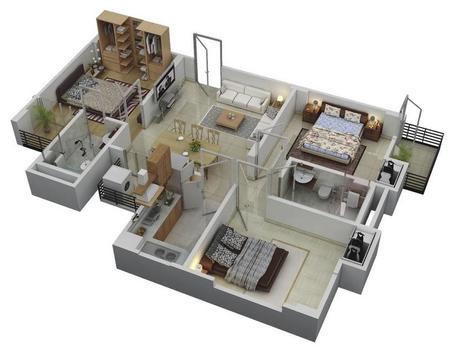 3D Design for 3 Bedroom screenshot 2