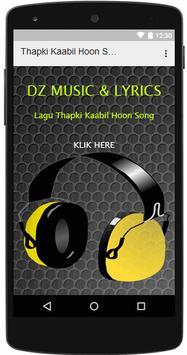 Lagu Thapki Kaabil Hoon poster