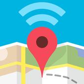 Wifimaps: free wifi +passwords icon