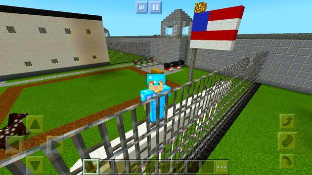 New Prison Life roblox map for MCPE road block 2! poster