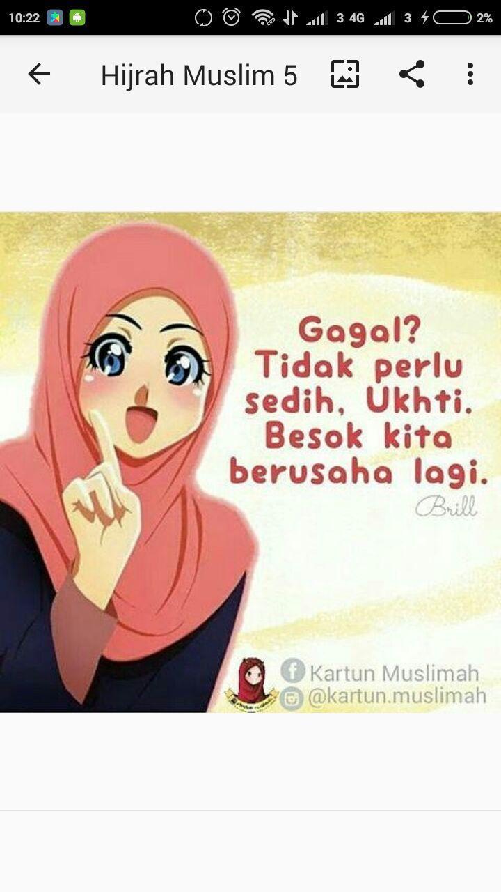 Kartun Muslimah DP Kata Kata Hijrah For Android APK Download