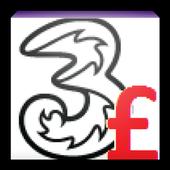 Three Call Cost Checker icon