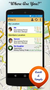 d'Sini Free : Location Sharing w Family & Friends poster