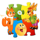 Jigsaw style Puzzle for teaching  for children. icon
