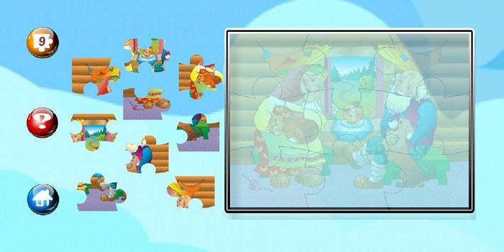Jigsaw style Puzzle for teaching  for children. screenshot 12