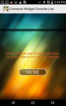 Contacts Widget Favorite List screenshot 5