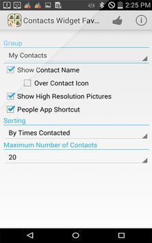 Contacts Widget Favorite List screenshot 6