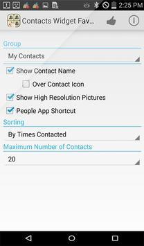 Contacts Widget Favorite List apk screenshot