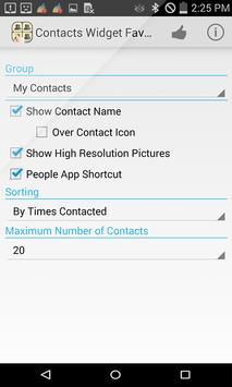 Contacts Widget Favorite List screenshot 2
