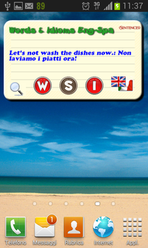 Spanish Words & Idioms widget and Dictionary mp3 for Android - APK