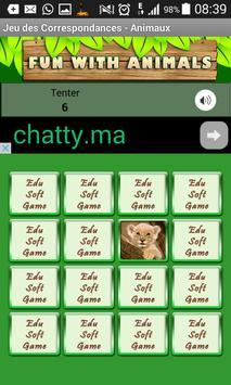 Matching pictures animals Game apk screenshot