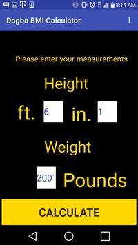 Dagba BMI Calculator poster