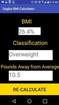 Dagba BMI Calculator screenshot 1