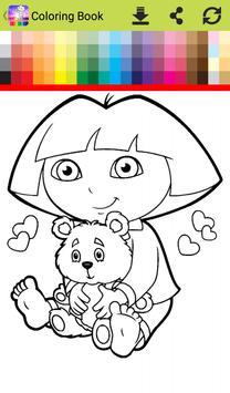 Dora Coloring Book Screenshot 11