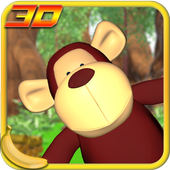 Jungle Monkey Fruit 3D Games icon