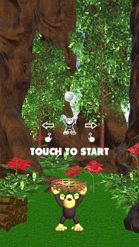 Jungle Monkey Fruit 3D Games screenshot 1