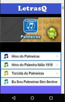 Palmeiras Letras Qrink poster