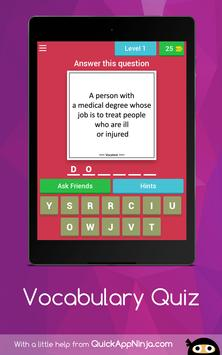 Vocabulary Quiz screenshot 12