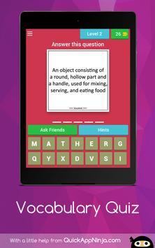 Vocabulary Quiz screenshot 14