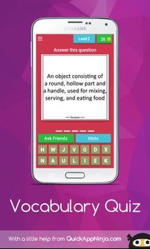 Vocabulary Quiz apk screenshot