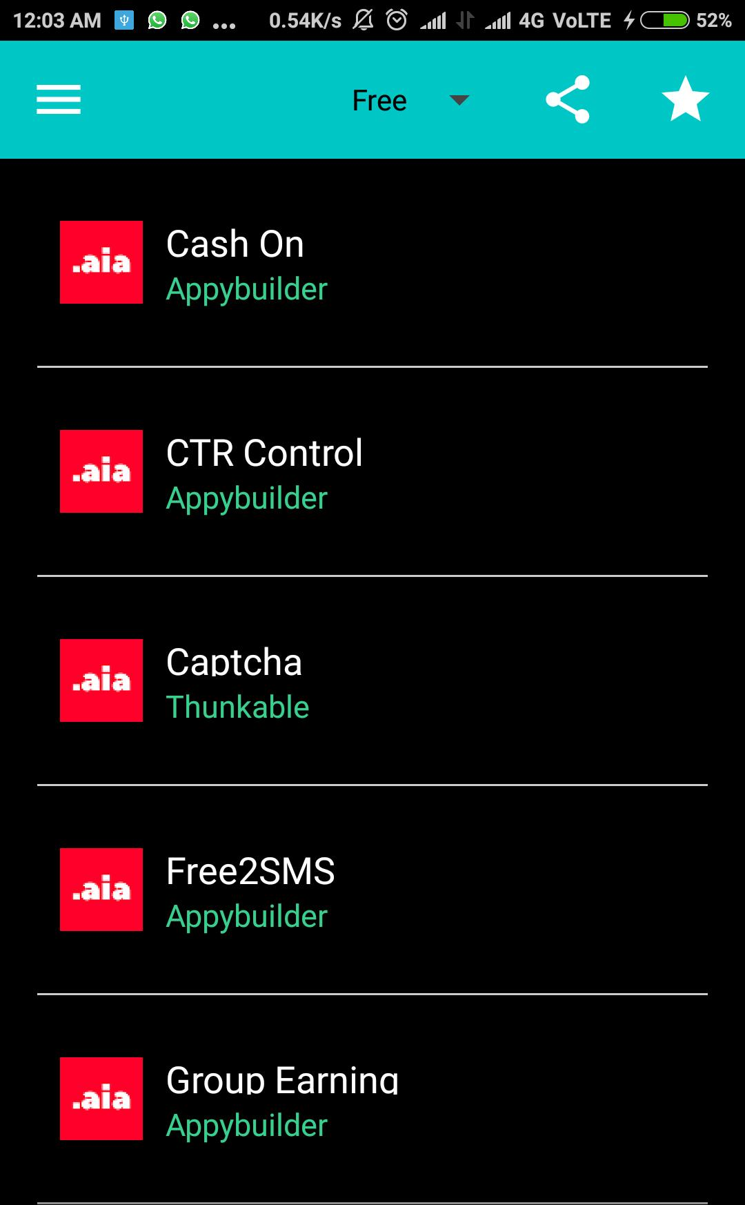 AIA Files for Thunkable, Appybuilder & AppInventor for Android - APK