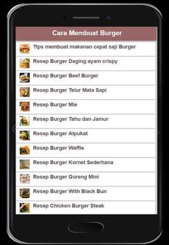 Cara Membuat Burger poster