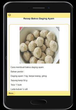 Resep Menu Bakso Enak screenshot 3