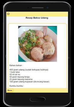 Resep Menu Bakso Enak screenshot 14