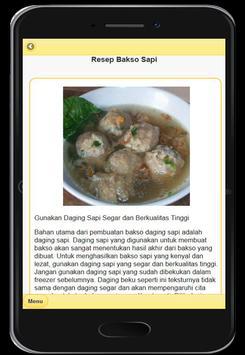 Resep Menu Bakso Enak screenshot 1