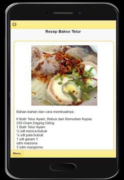 Resep Menu Bakso Enak screenshot 5