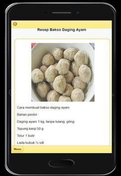 Resep Menu Bakso Enak screenshot 9