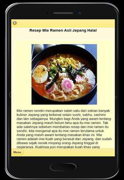 Resep Mie Ramen Khas Jepang screenshot 1