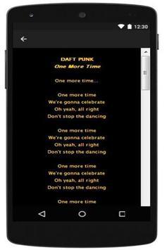 New Lyric Daft Punk apk screenshot