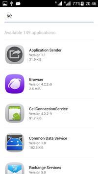 Application Sender screenshot 1