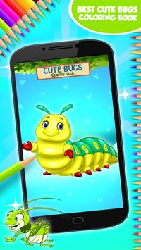 Cute Bugs Coloring Book poster