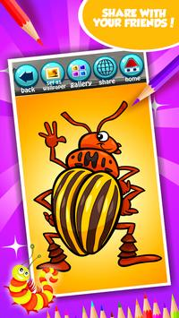 Cute Bugs Coloring Book screenshot 14
