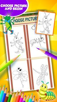 Cute Bugs Coloring Book screenshot 2