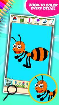 Cute Bugs Coloring Book screenshot 3