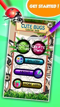 Cute Bugs Coloring Book screenshot 9