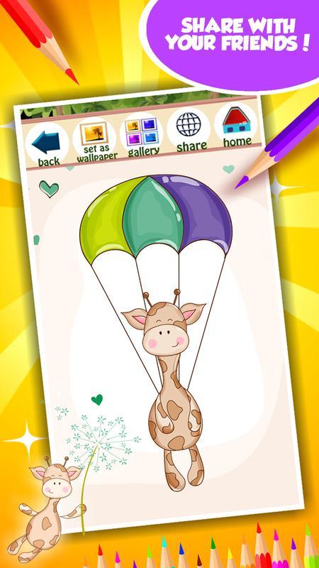 Linda jirafa para colorear for Android - APK Download