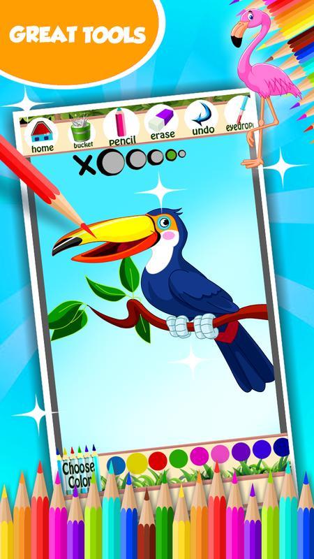 Libro para colorear pájaro for Android - APK Download