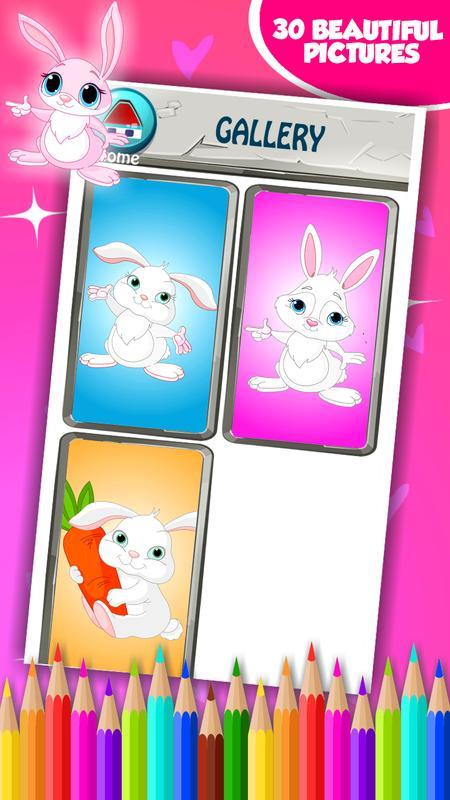Gambar Untuk Mengomentari Gambar Mewarnai Kelinci H Oneletterco