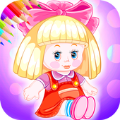 Doll Coloring Book icon