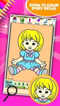 Doll Coloring Book screenshot 3