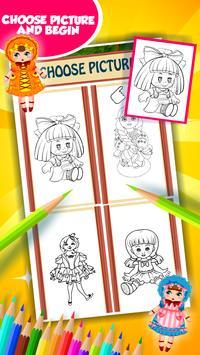 Doll Coloring Book screenshot 10