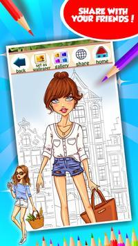 Fashion Girl Coloring Book screenshot 14