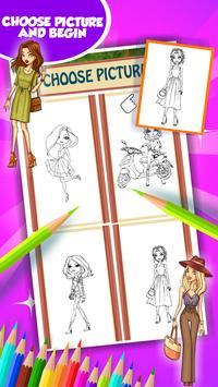 Fashion Girl Coloring Book screenshot 2