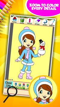 Little Girl Coloring Book screenshot 11