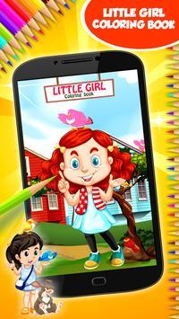 Little Girl Coloring Book screenshot 8